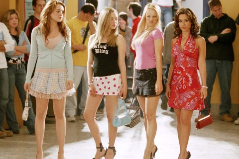 From left: Lindsay Lohan, Amanda Seyfried, Rachel McAdams and Lacey Chabert in Mean Girls.