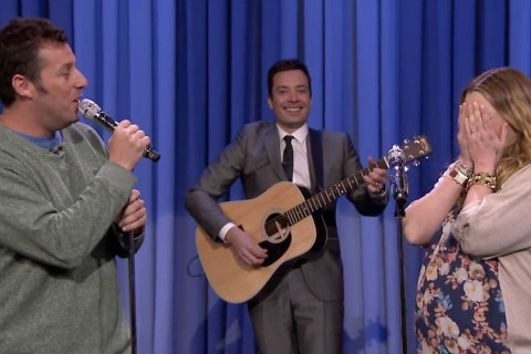 Adam-Sandler-Drew-Barrymore-duet