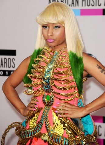 Nicki Minaj arrives at the 2010 American Music Awards held at Nokia Theatre L.A. Live on Nov. 21, 2010 in Los Angeles.