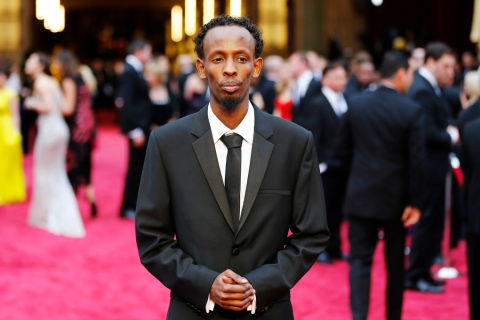 "Abdi, best supporting actor nominee for his role in ""Captain Phillips"", arrives at the 86th Academy Awards in Hollywood"