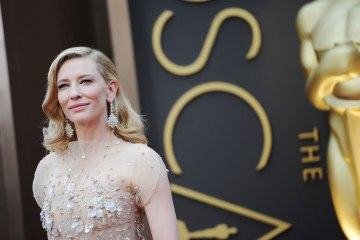 "Nominee for Best Actress in ""Blue Jasmine"" Cate Blanchett arrives on the red carpet for the 86th Academy Awards on March 2nd, 2014 in Hollywood, California."